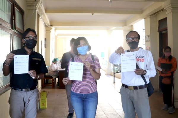 Jalani Rapid Test, 35 Orang Jajaran KPU Tabanan Tunjukkan Hasil Non Reaktif