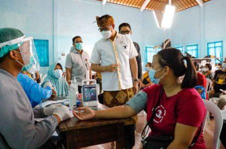 Badung Perluas Sasaran Vaksinasi Dosis 1, Wabup Suiasa Targetkan 4.255 Peserta Di Desa Taman
