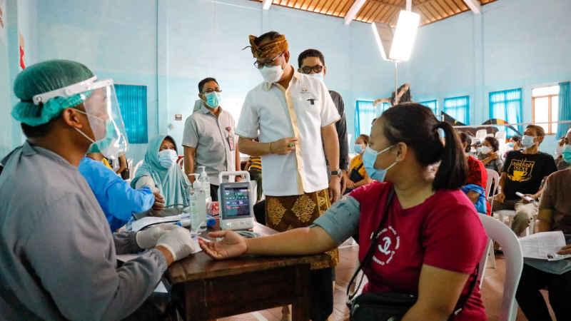 Minggu Ketiga Juni, Badung Target 70 Persen Penduduk Mendapat Vaksin Dosis 1