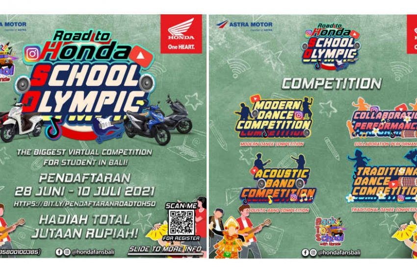 Gali Bakat Siswa Secara Virtual, Astra Motor Bali Gelar Honda School Olympic Competition