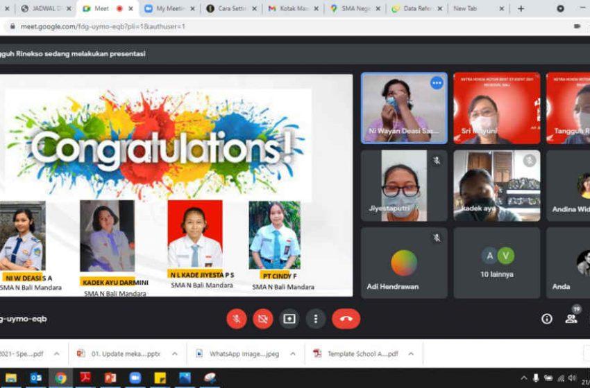 Wakili Bali, Empat Siswa Berprestasi Maju Ke Babak Nasional Kompetisi AHM Best Student 2021