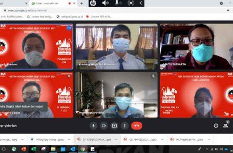 Seleksi Tahap Awal, Penjurian AHM Best Student 2021 Regional Bali Digelar Dengan Virtual