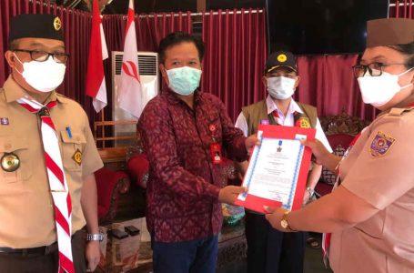 Serahkan Bantuan, Ketua Kwarda Bali Berharap Ada Prestasi Nasional Muncul dari Bangli