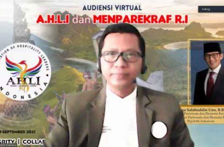 Audiensi dengan Menparekraf, AHLI Diharapkan Konsisten Berkontribusi Memajukan Pariwisata Indonesia