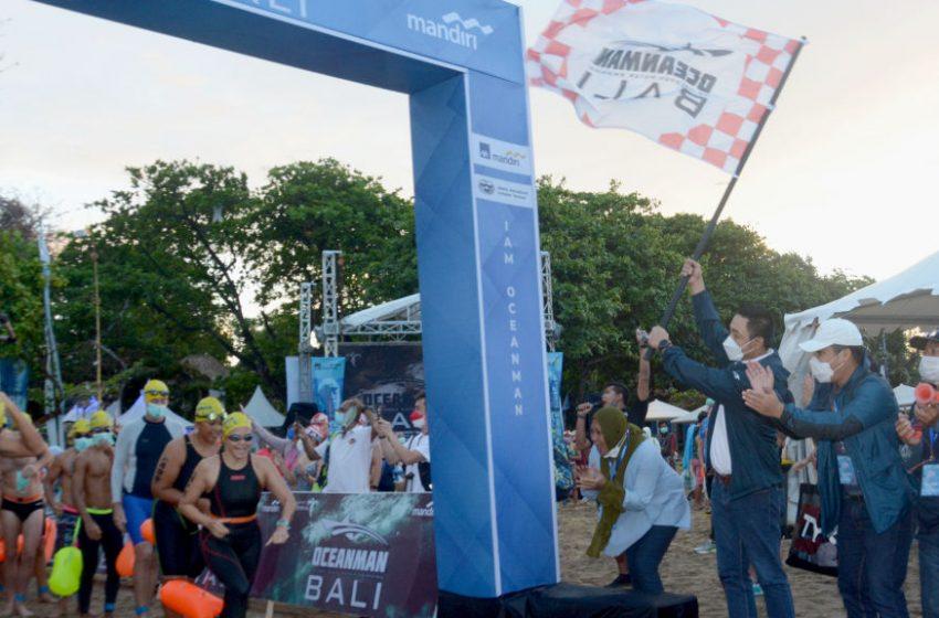 Oceanman Bali 2021, Bank Mandiri dan AXA Mandiri dukung Kembalinya Event Olahraga Internasional ke Bali