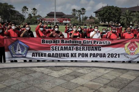 Lepas Atlet Badung Kontingen Bali ke PON XX 2021, Bupati Giri Prasta Tekankan Sportivitas