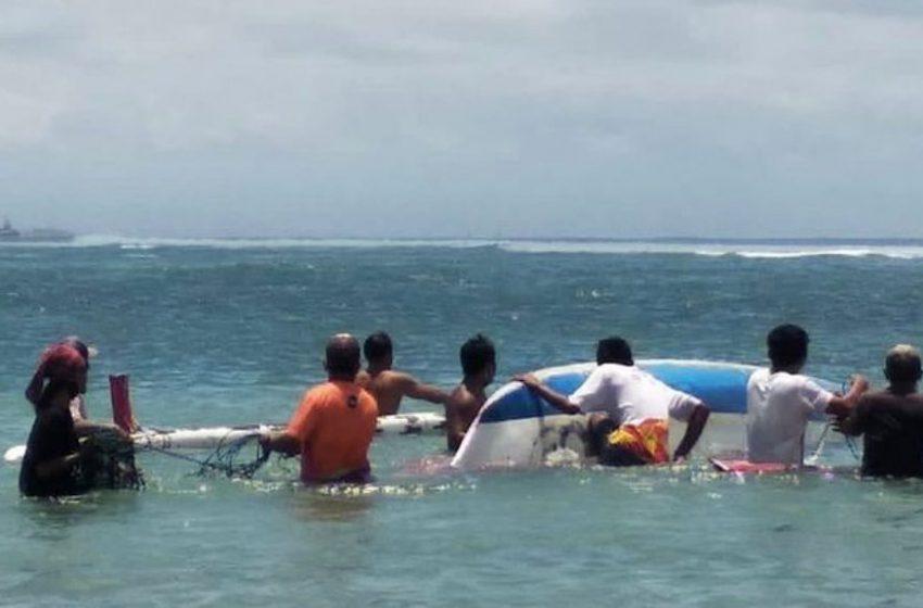 Pulang Melaut, Perahu Made Wijaya Terbalik Dihantam Ombak