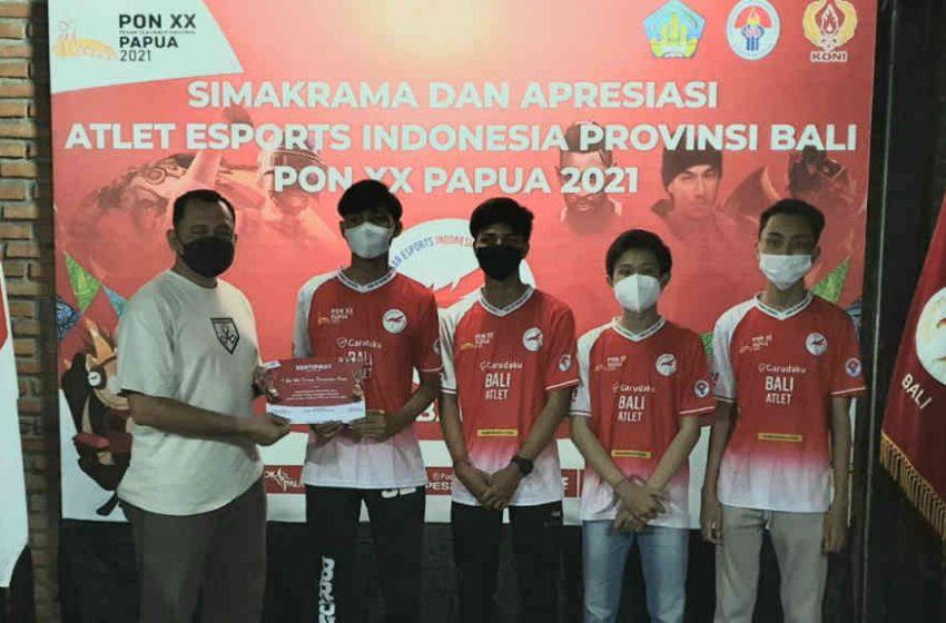 Atlet Bali Eksibisi Esports PON XX Digelontor Dana Pembinaan
