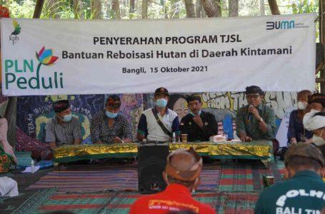 Peduli Lingkungan, PLN Lakukan Penghijauan Hutan Bangli