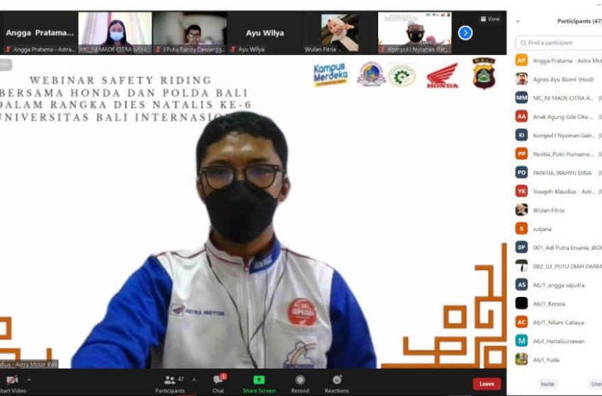 Astra Motor Bali Gandeng Mahasiswa, Berbagi Pesan Keselamatan Berkendara #Cari_Aman