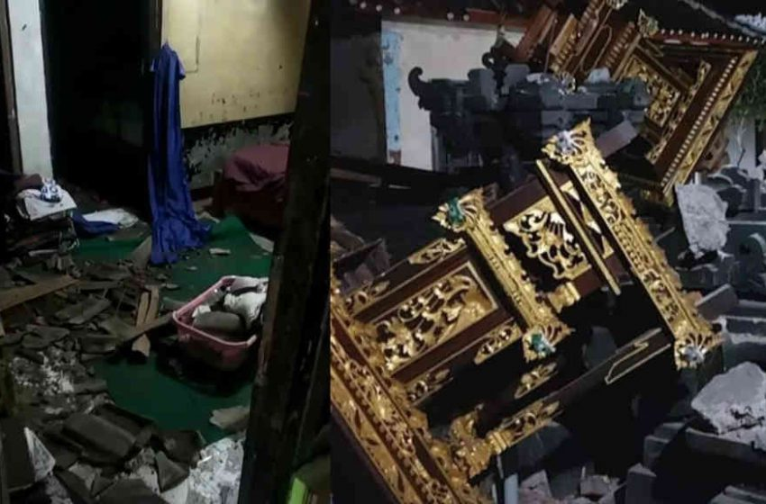 Sejumlah Bangunan Rusak Akibat Gempabumi Tektonik M 4,8 di Karangasem